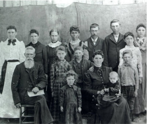 Allen and Martha Jane (Mastin) Fields and family